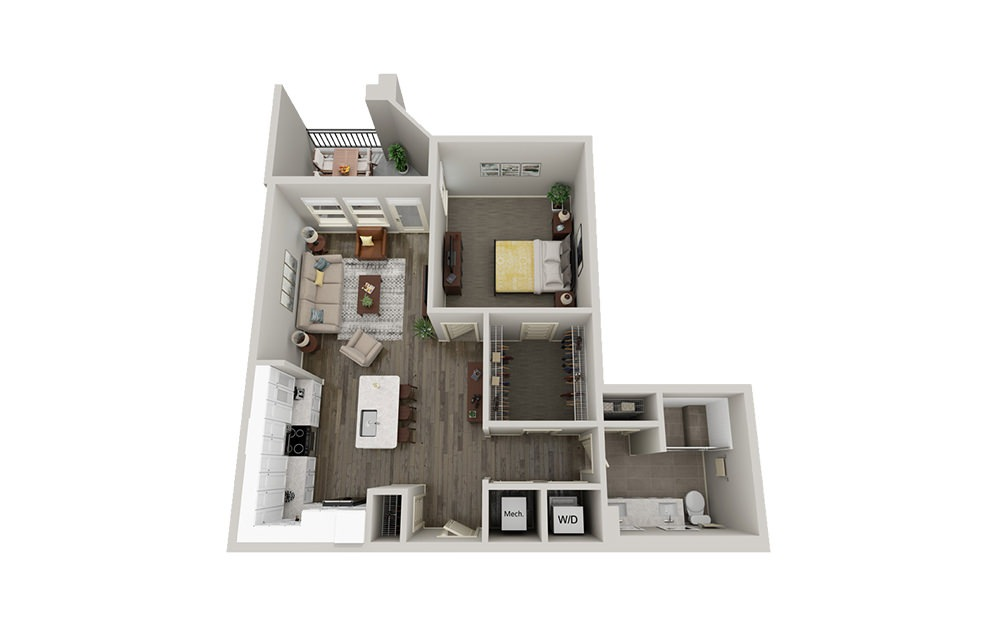A1 | 1 Bed, 1 Bath, 848 sq. ft. Apartment at McEwen Northside
