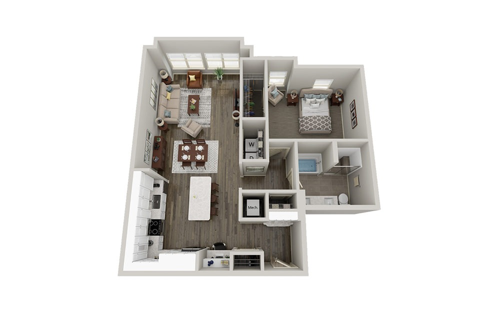 A10 | 1 Bed, 1 Bath, 1028 sq. ft. Apartment at McEwen Northside
