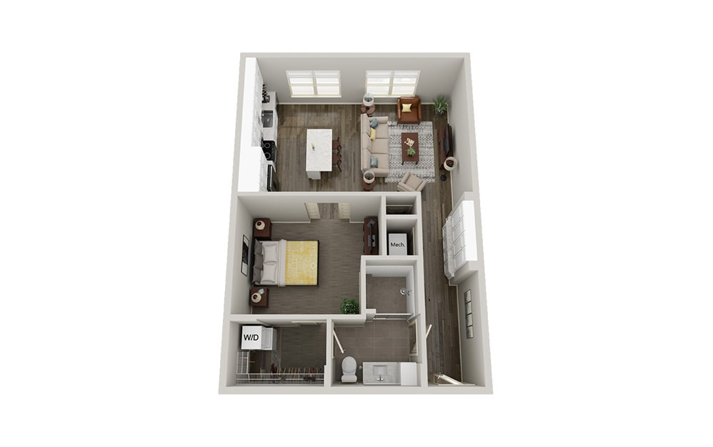 A3 | 1 Bed, 1 Bath, 796-870 sq. ft. Apartment at McEwen Northside