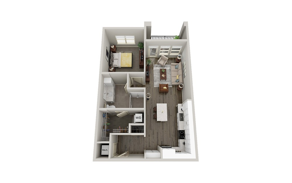 A5 | 1 Bed, 1 Bath, 820-857 sq. ft. Apartment at McEwen Northside