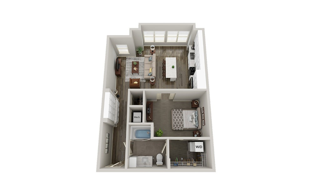 A6 | 1 Bed, 1 Bath, 782-857 sq. ft. Apartment at McEwen Northside