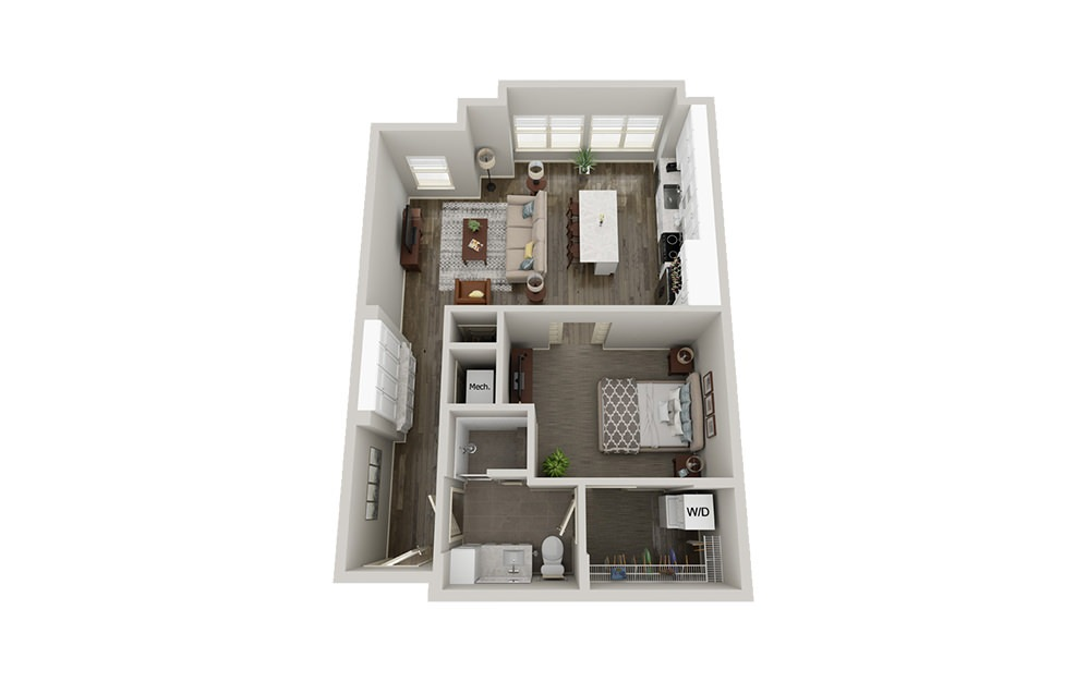 A8 | 1 Bed, 1 Bath, 763-808 sq. ft. Apartment at McEwen Northside